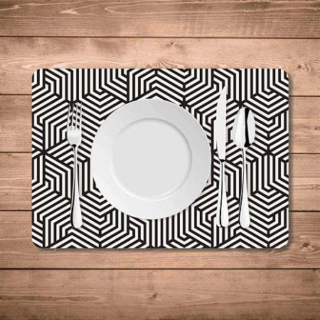 Jogo Americano Geométrico Preto E Branco