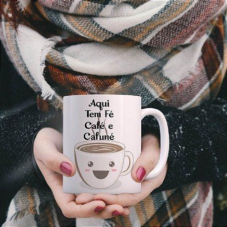 Caneca Aqui tem Fé Café Cafuné