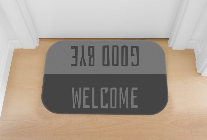 TAPETE DECORATIVO WELCOME GOOD BYE