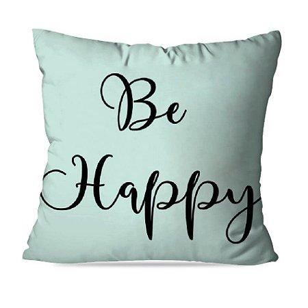 ALMOFADA OU CAPA GREEN BE HAPPY