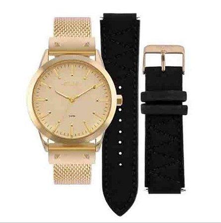 5deafca40e800 Relógio Euro Feminino Dourado   Troca Pulseira Eu2035yok 4d - Juli ...