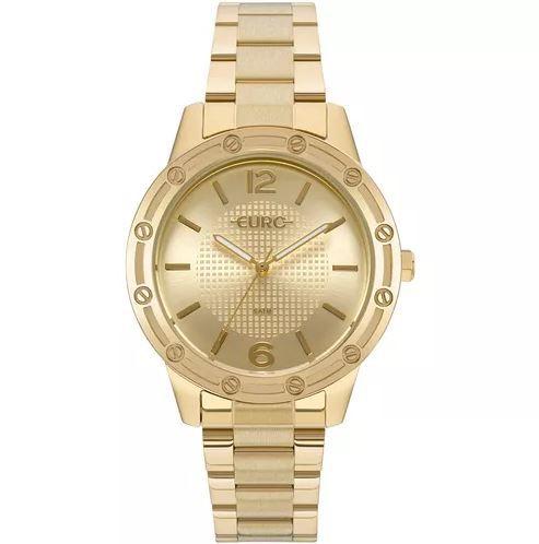ec21b677f6c Relógio Euro Feminino Texturas Dourado - EU2035YND 4D - Juli Pratas ...