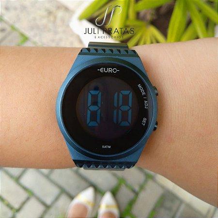 b947a12bad12a Relógio Euro Fashion Fit Slim Feminino Azul EUBJT016AE 4A - Juli ...