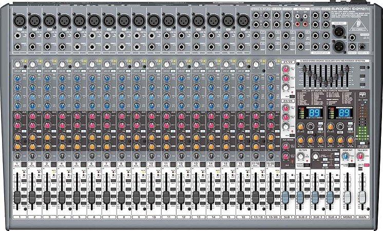 Mesa De Som Behringer Eurodesk Sx2442fx C/ Efeitos