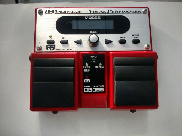 Pedal Voz Boss VE 20 (Usado) Possui Caixa e Manual