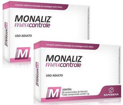 2 caixas - Monaliz Meu Controle - Sanibras (30 caps cada)