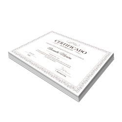 Certificados 210x297mm em Offset 240g - 4x0 - Sem Verniz
