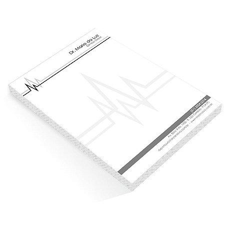 Bloco de notas BLOCADO Miolo personalizado sem capa Preto e Branco