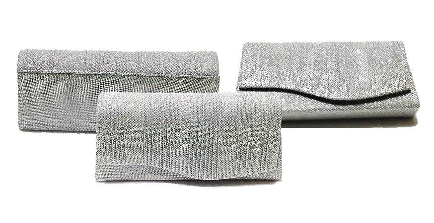 Bolsa De Mão Para Festa Prata : Bolsa de m?o para festa brilho prata luzia alves store