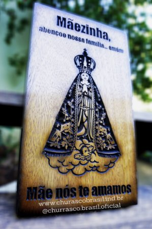 Quadro em madeira, Nossa Senhora Aparecida