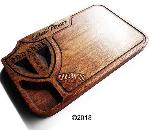 Tabua de carne em madeira, Brusque FC