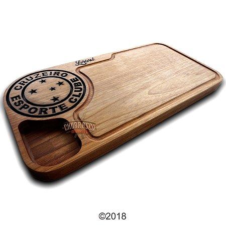 Tabua de carne em madeira, Cruzeiro 60x30