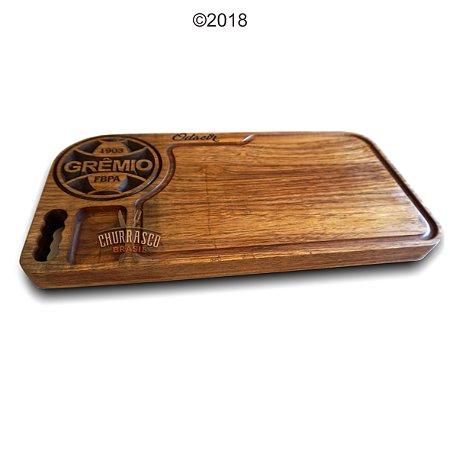 Tabua de carne em madeira, Grêmio 60x30