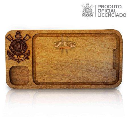 Tabua De Carne Gourmet Versátil Cozinha E Churrasco 40x20x3,5 Corinthians