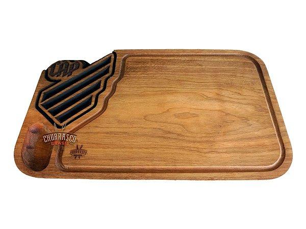 Tabua de carne em madeira, Athletico Paranaense Logo Nova