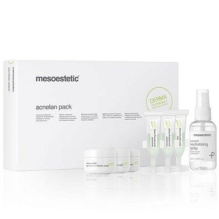 Acnelan Pack - 3 Acnelan Acne Multifactor Mask (10ml) + 1 Post-Peel Neutralizing Spray (50ml) + 3 Pore Sealing Shield (3ml).