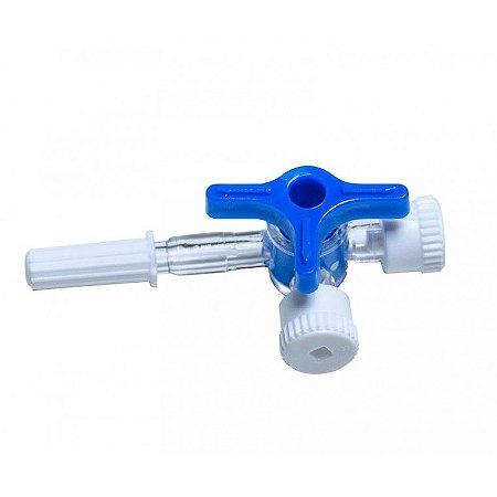 Torneira 3 vias - Luer Lock - 3 unidades
