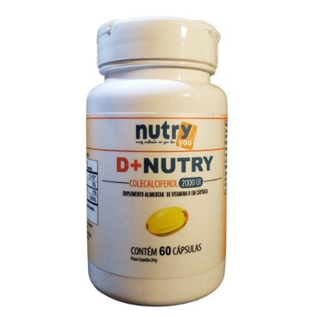 Vitamina D 2.000UI D+Nutry Colecalciferol  contém 60 softgels
