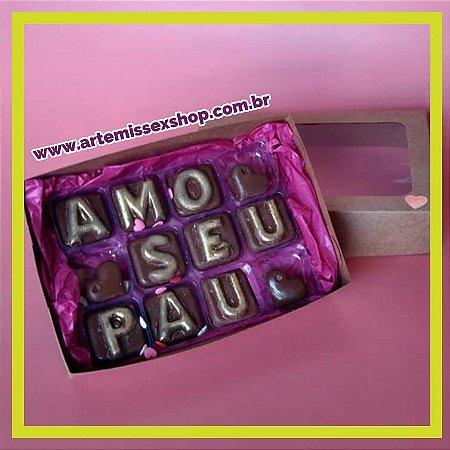 """Chocolates Safados """"Amo Seu Pau"""""""