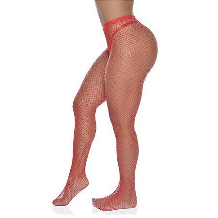 Meia Calça Arrastão Vermelha