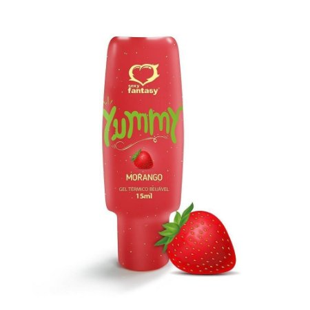 Gel Beijável HOT para Oral Yummy Morango 15ML