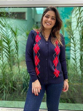 CARDIGAN FEMININO XADREZ