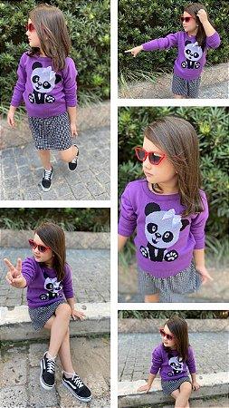 BLUSA INFANTIL JACQUARD URSO PANDA
