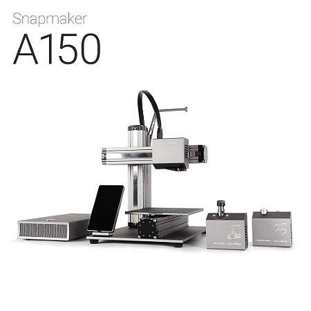Snapmaker A150 - Impressora 3D Multifuncional - Impressão em 3D - Gravação a laser - Usinagem CNC