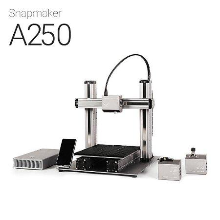 Snapmaker A250 - Impressora 3D Multifuncional - Impressão em 3D - Gravação a laser - Usinagem CNC