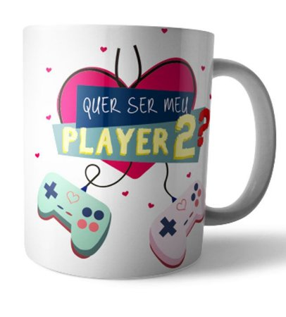 Caneca Gamer Player 2