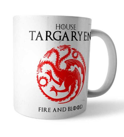 Caneca House Targaryen GOT