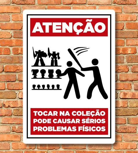 Placa Coleção Action Figures