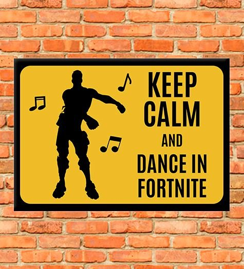 Placa Dance Fornite