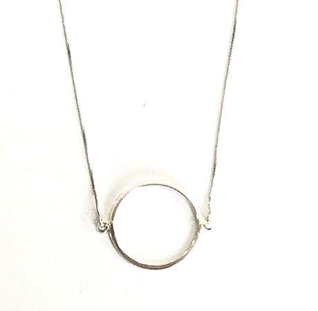 Colar Geométrico Círculo em Prata 925