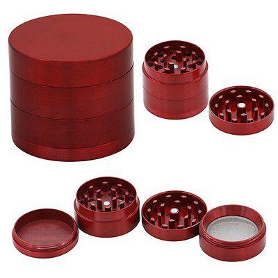Triturador de Metal Vermelho
