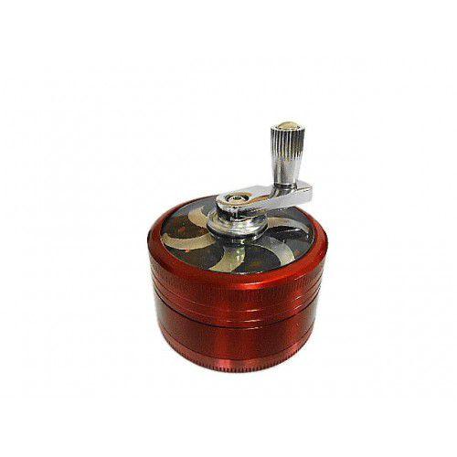 Triturador Metal com Manivela Vermelho