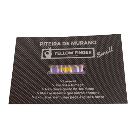 Piteira Murano Small Lilás Yellow Finger