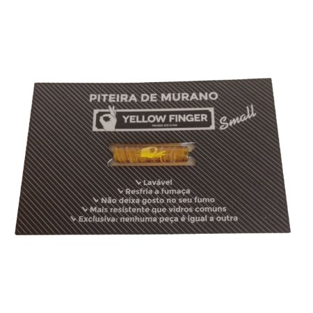 Piteira Murano Small Marrom Yellow Finger