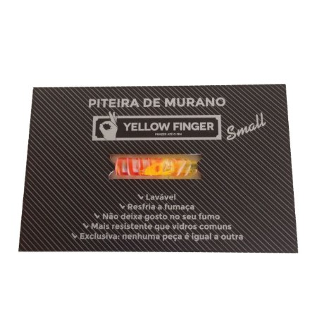 Piteira Murano Small Laranja Yellow Finger