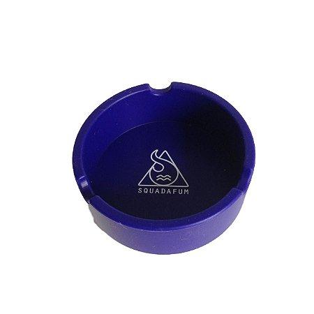 Cinzeiro de Silicone Redondo Azul Squadafum