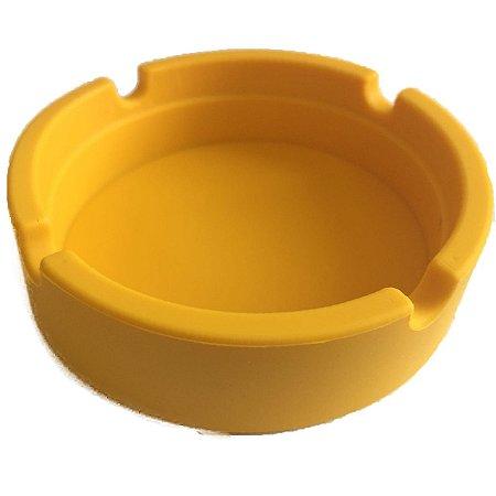 Cinzeiro de Silicone Amarelo