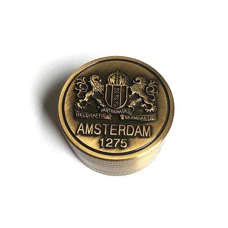 Dichavador de Metal Dourado Amsterdam 1275