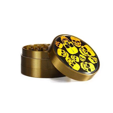 Dichavador de Metal Caveira Amarelo