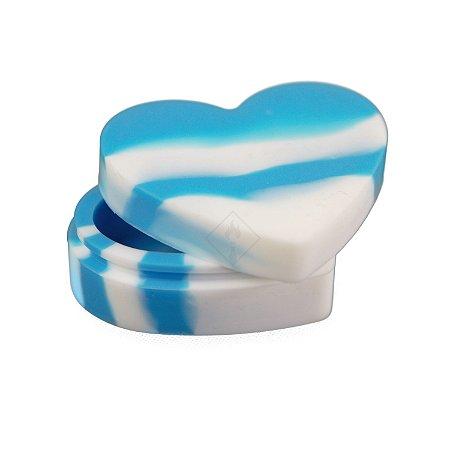 Slick Coração Azul e Branco