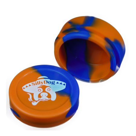 Silicone Oil Slick Laranja e Azul Pneu Silly Dog