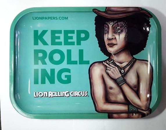 Bandeja Verde Grande Lion Rolling Circus