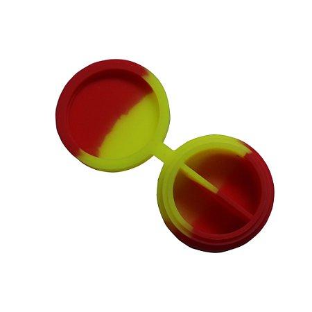 Silicone Slick com Divisão Amarelo e Vermelho