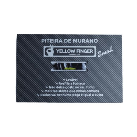 Piteira Murano Small Preto e Branco Yellow Finger