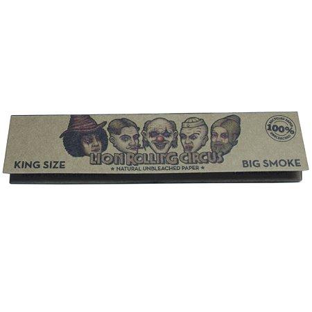 Seda King Size Brown Preta Lion Rolling Circus