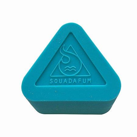 Pote de Silicone Triângulo Azul Squadafum